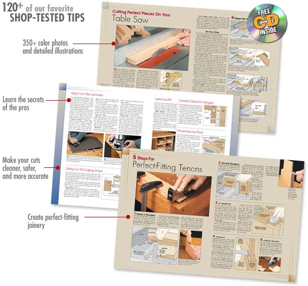 120 woodworking tips and techniques book